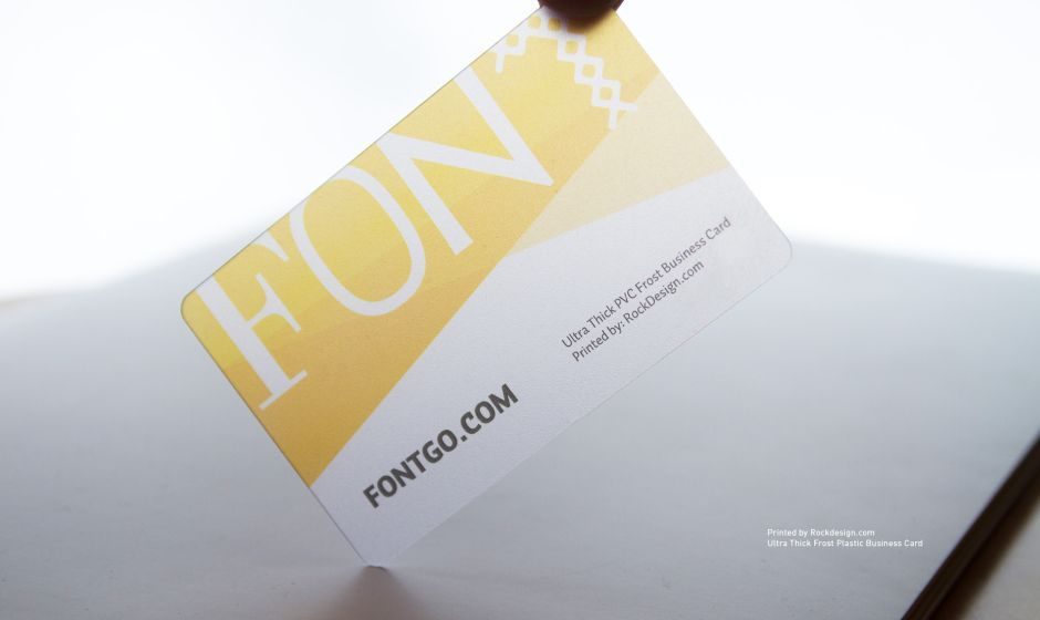 RockDesign.com | Plastic Business Cards | Ultra Thick PVC Frost ...
