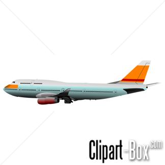Passenger Airplane Silhouette - Free Clip Art