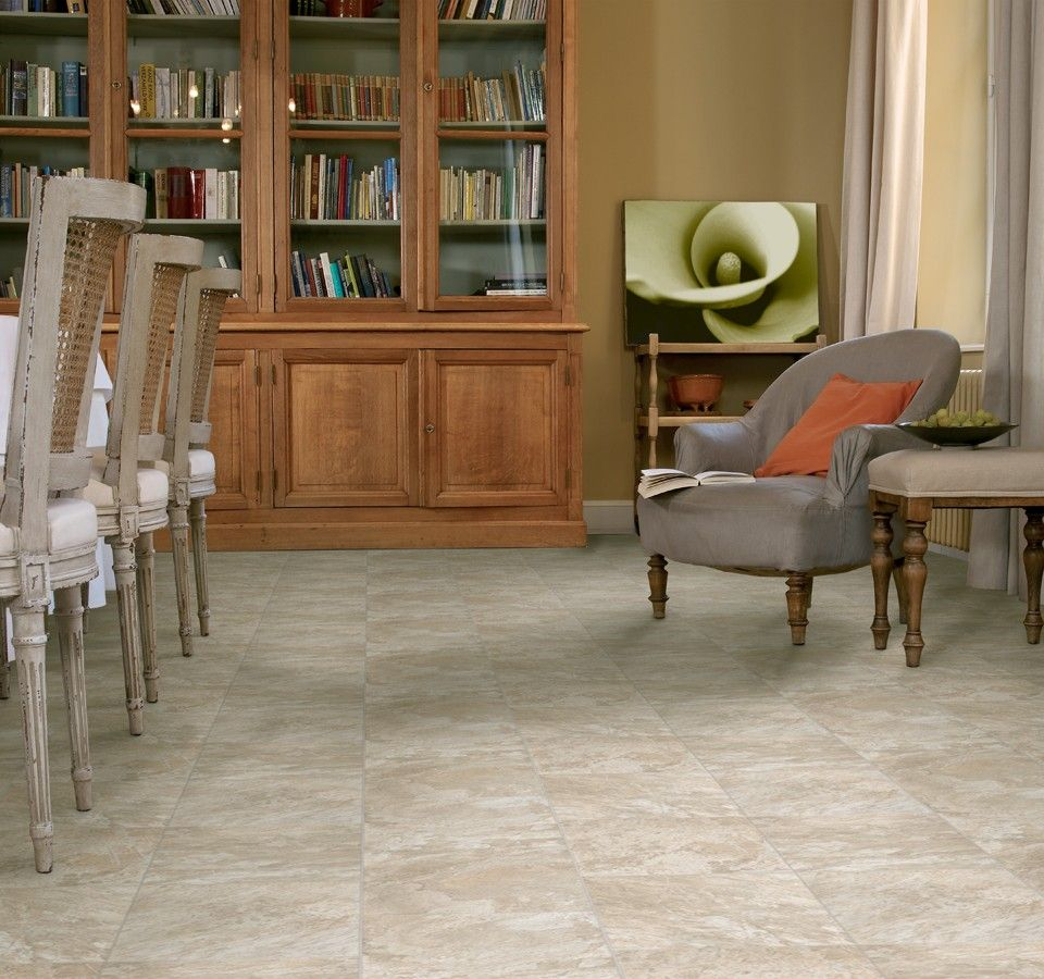 Types Of Kitchen Flooring Ideas: Flexitec Craftmark Trend Shown In Rusty Slate 905