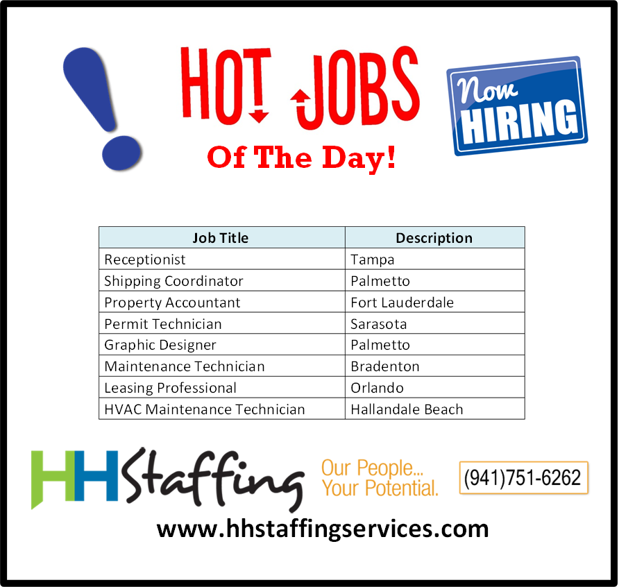 Pin By Hh Staffing Services On Hot Jobs Of The Day Hvac Maintenance Hallandale Beach Job