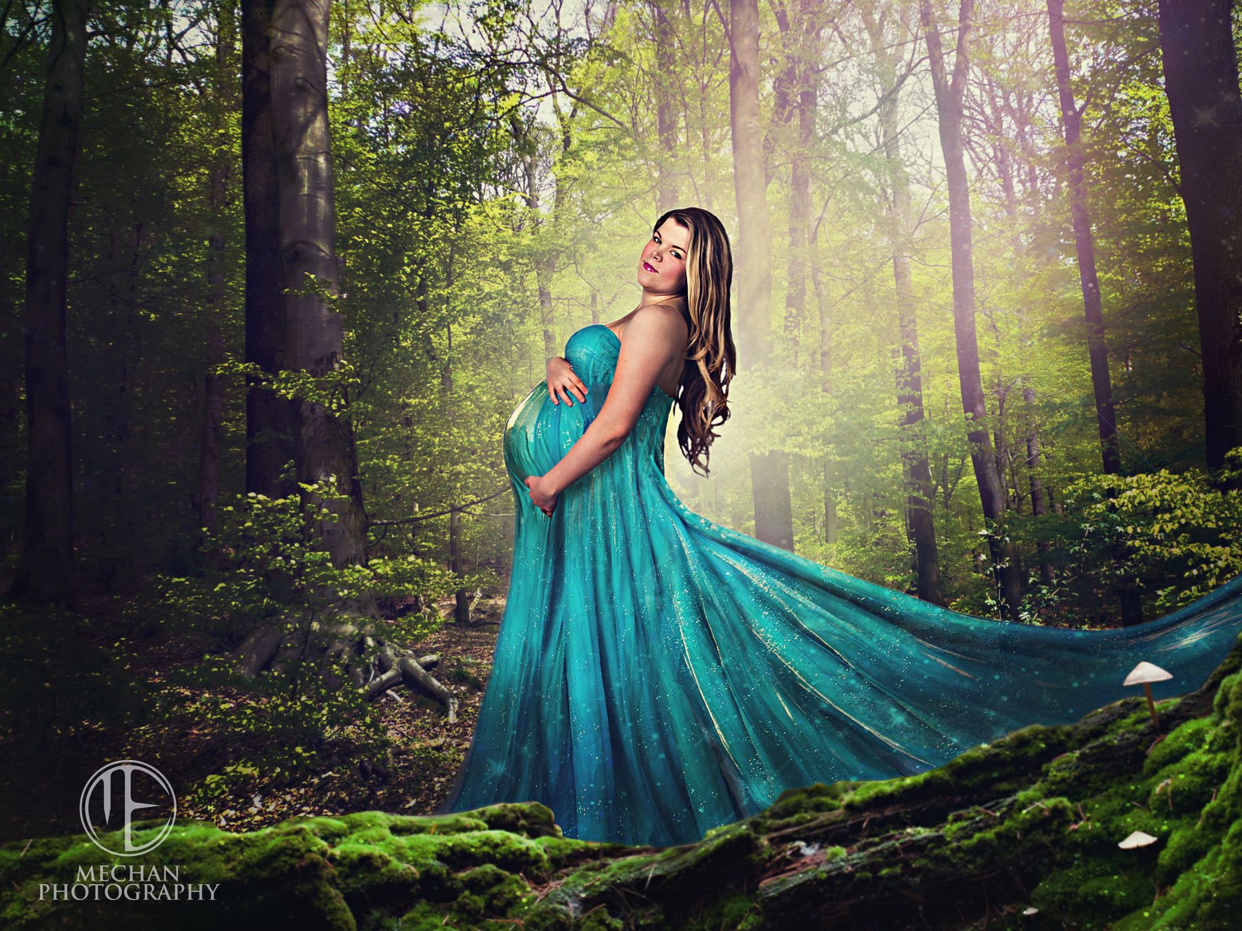Long flowing maternity gown. 9 months. mechanphotography.com | Art ...