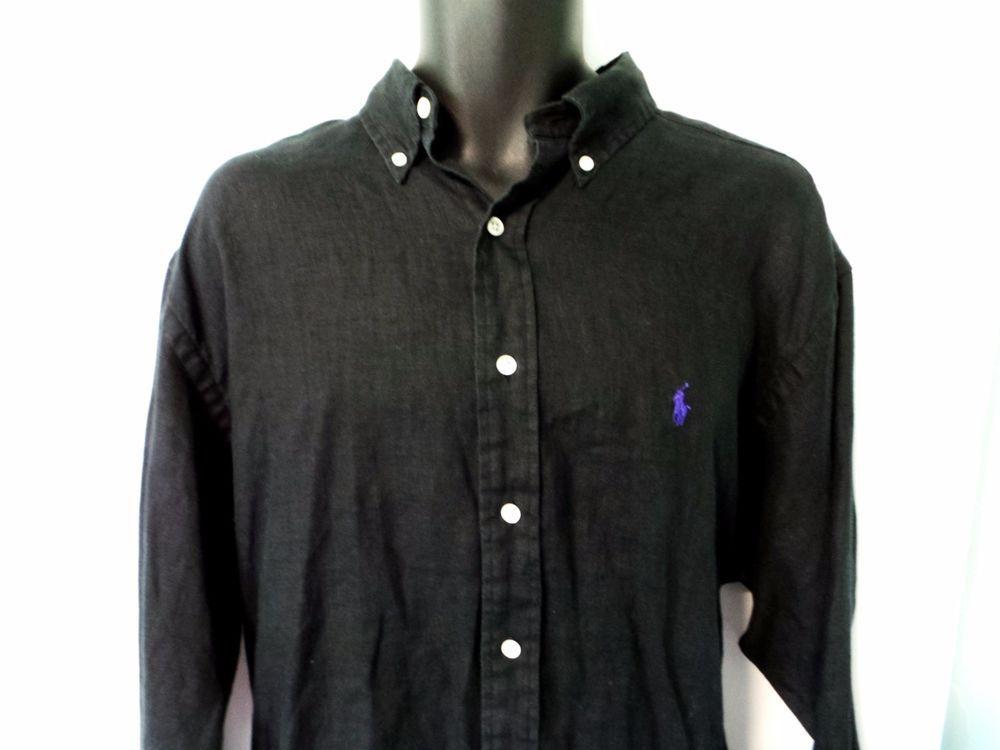 Mens Black Polo Gown Shirt