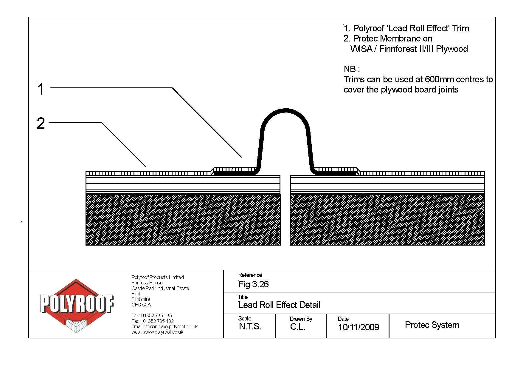 Lead Roll Effect Grp Trim Detail Roof Detail Trim Detail Cladding