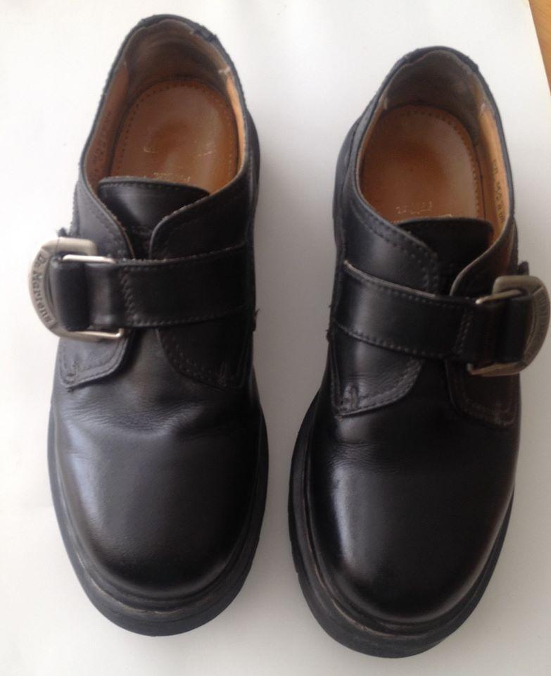 3793d5e4aa7 Dr. Doc Marten s  8314 Monk Strap Oxford Black Leather UK SZ 7
