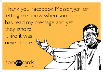 ignore messages on fb messenger