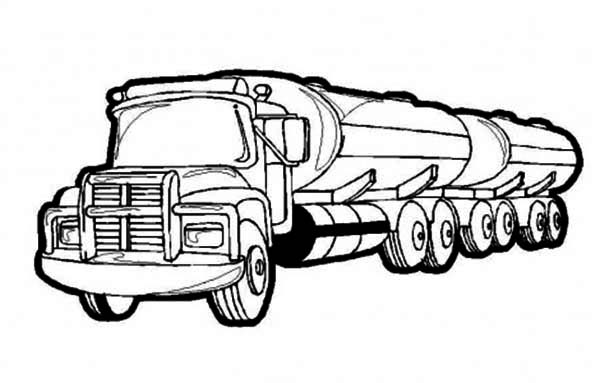 Oil Containing Semi Truck Coloring Page Netart Truck Coloring Pages Monster Truck Coloring Pages Monster Trucks