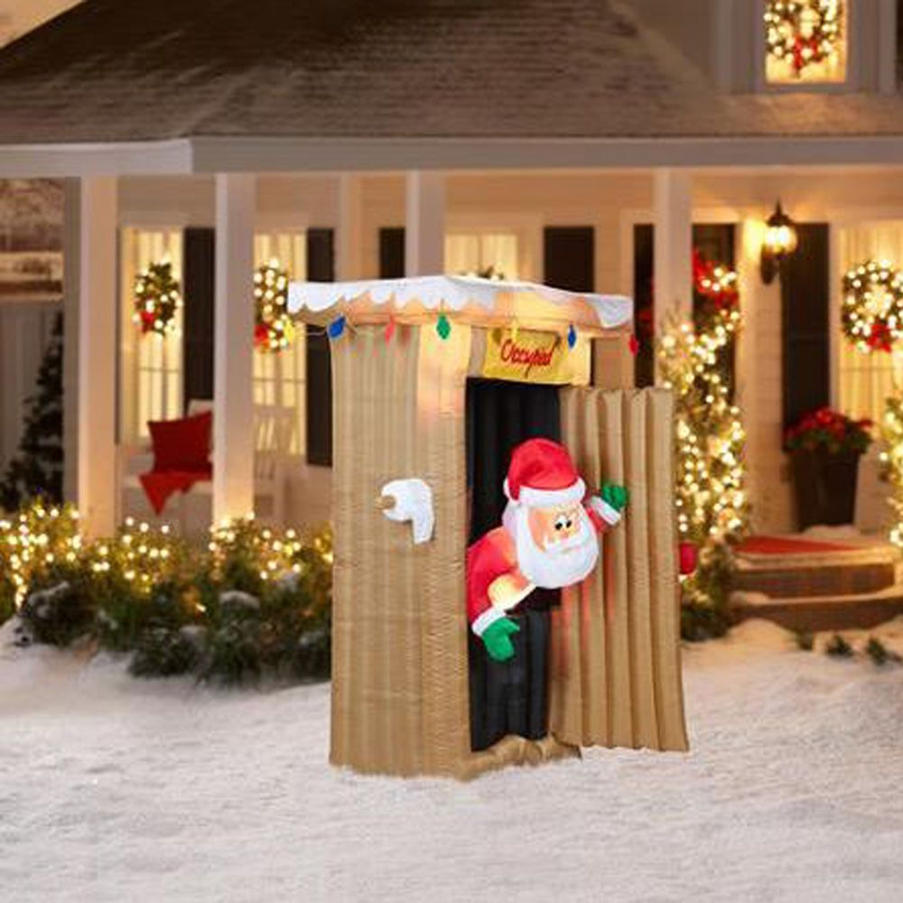 Animated christmas decorations outside - Animated Santa Inflatable Christmas Airblown Yard Decor 6 Ft Lighted Outdoor New