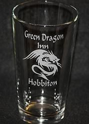 Lord of the Rings Green Dragon Inn Pint Glass