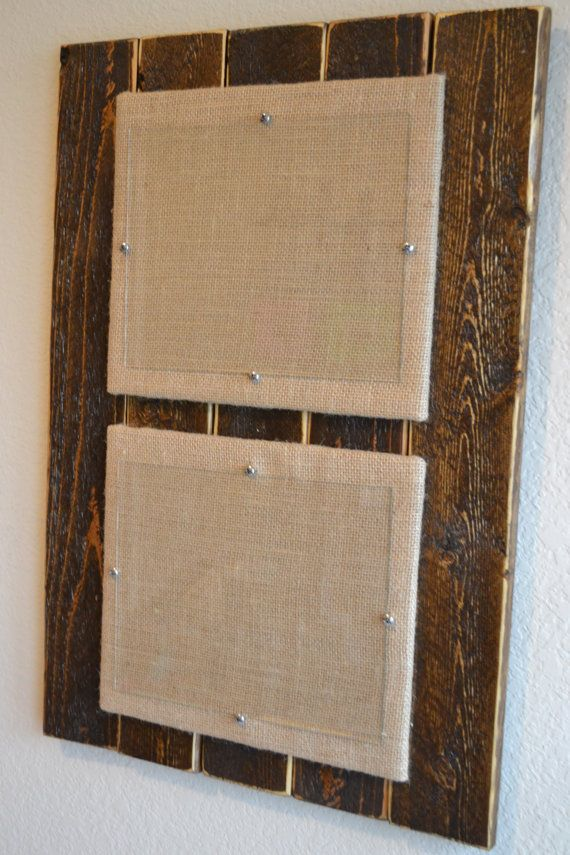 Burlap Wood Picture Frame 8x10 Distressed By Laarc On Etsy With