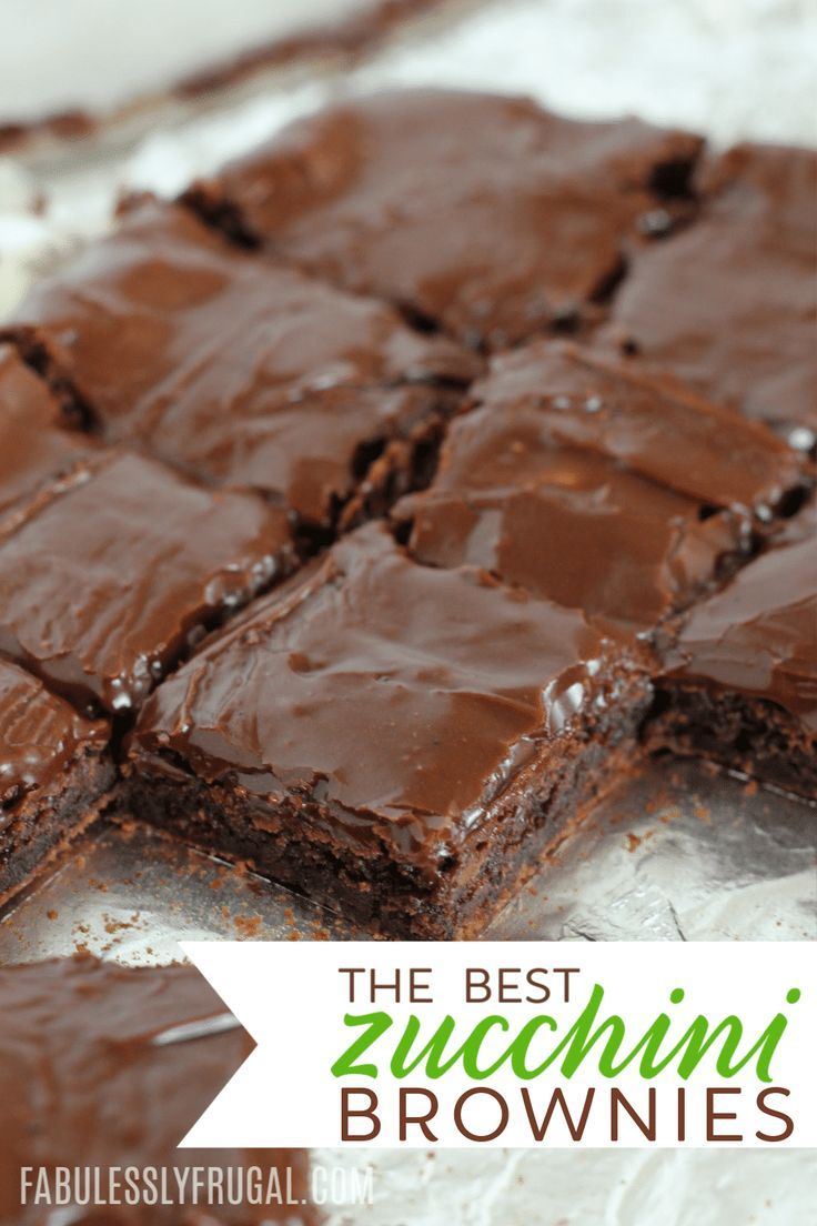 Photo of Best Chocolate Zucchini Brownies Recipe – Fabulessly Frugal