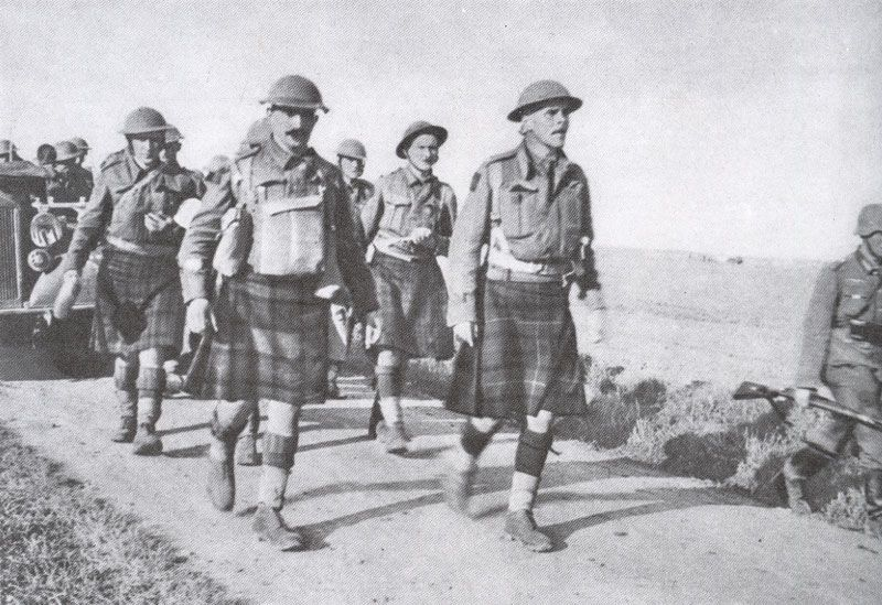 12 June 1940, troops of the 51st Highland Division Normandy