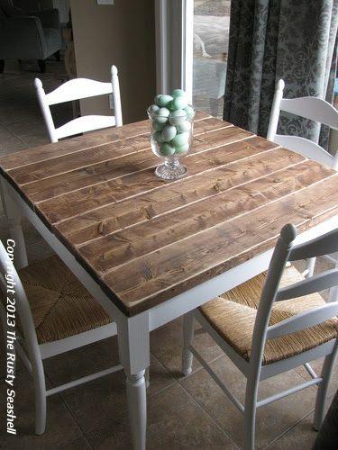 the rusty seashell big projects farmhouse kitchen tables diy farmhouse table on farmhouse kitchen table diy id=23264