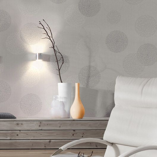 Papier Peint Vinyle Expans 233 Spot Bulles Gris Papier