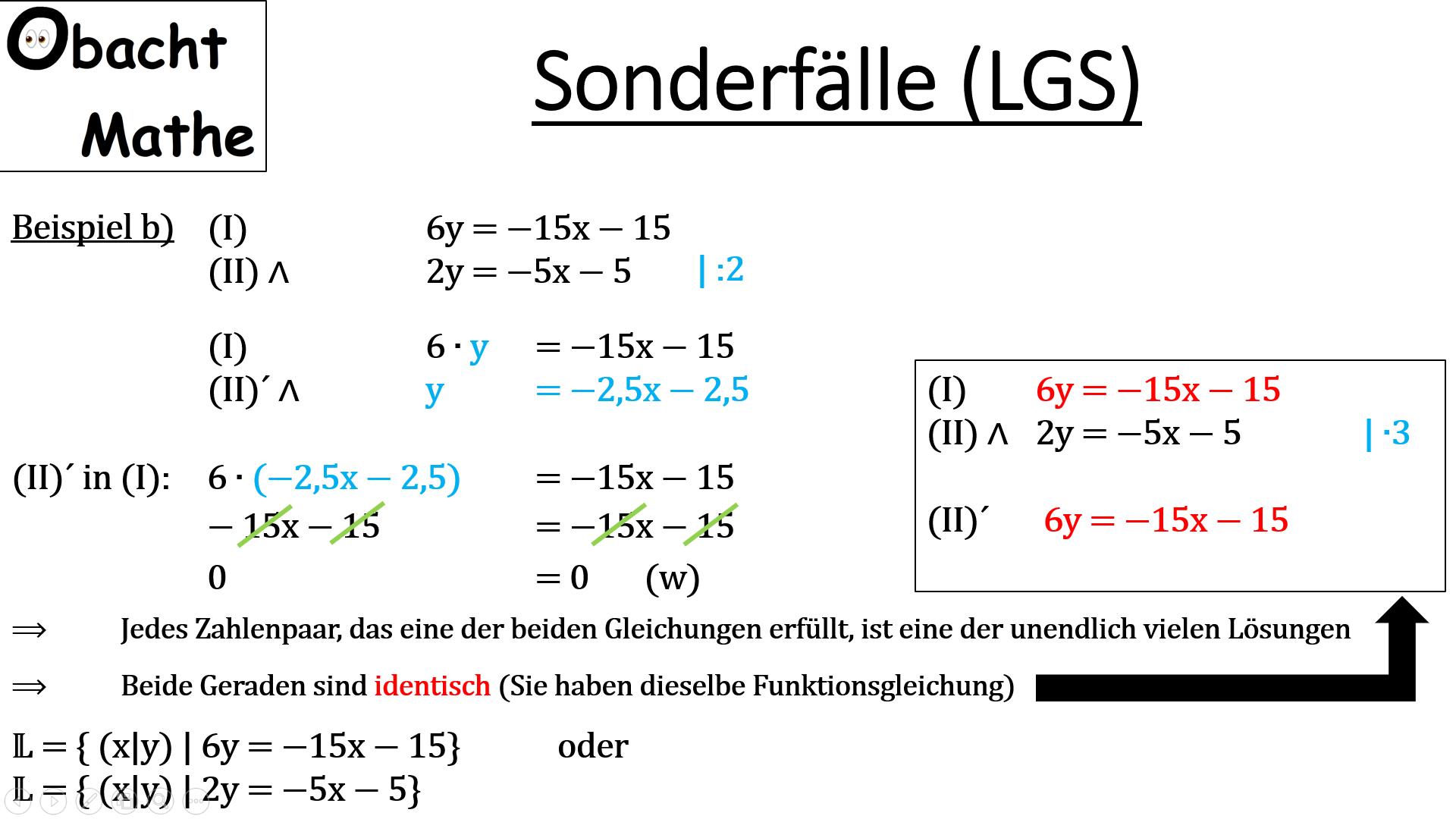 Sonderfälle bei linearen Gleichungssystemen (LGS) - keine Lösung ...