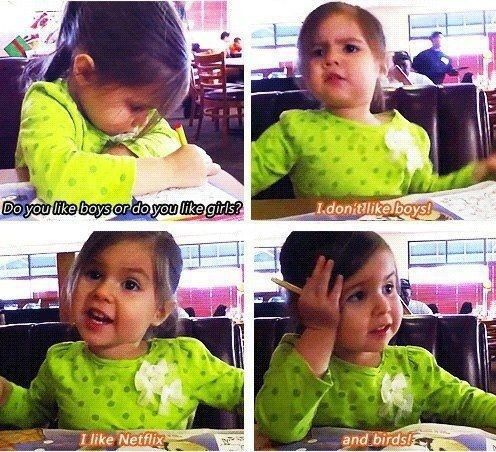 I want to give this little girl a high five