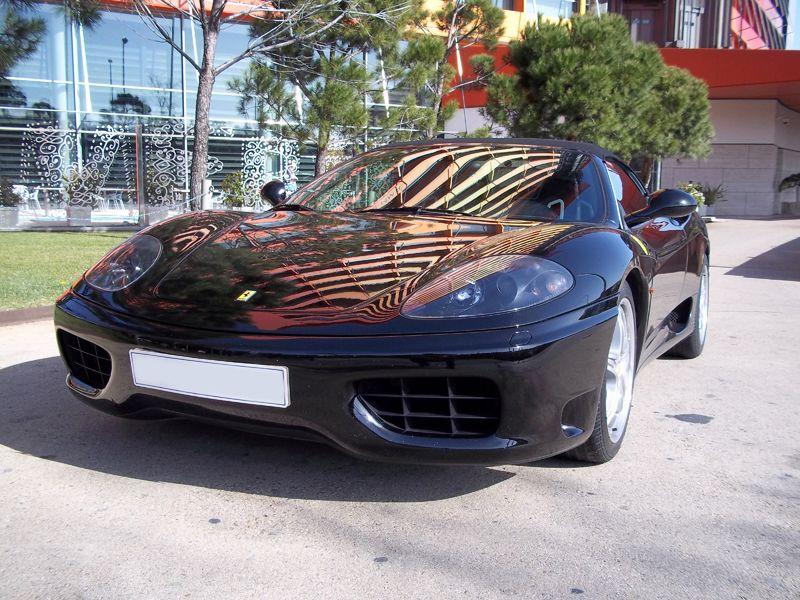 New Car Avalaible In Barcelona Ferrari F360 Spider Colour Black Luxury Car Hire Luxury Car Rental Car Hire