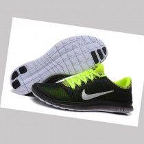 size 40 5196b f4c49 Nike Free 3.0 v6 Flyknit Negro Verde Fluorescente de las Mujeres de los  Zapatos de funcionamiento Zv6kk