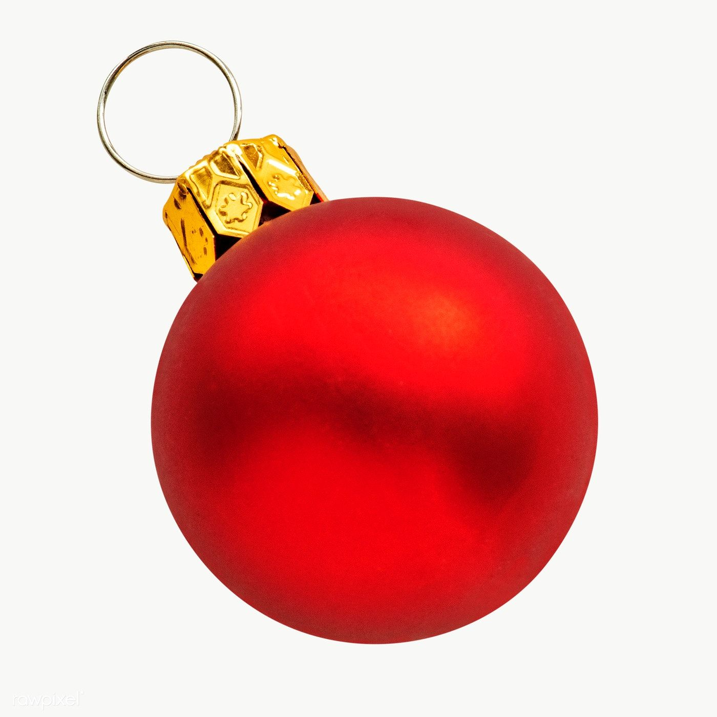 A Shiny Red Ball Christmas Ornament On Transparent Free Image By Rawpixel Com Christmas Ornaments Elegant Christmas Tree Decorations Gold Christmas Ornaments