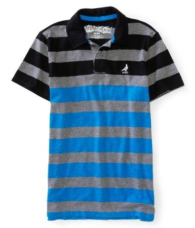 Aero Skate Striped Jersey Polo  秋特賣這件特賣再75折,含國際運費不用 $450