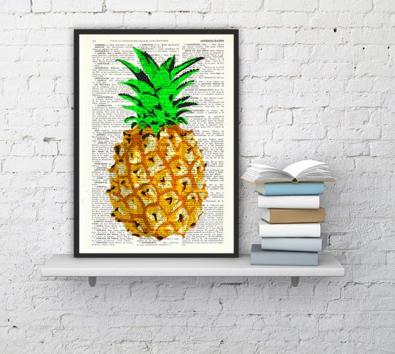 Hipster Wall Decor summer sale pineapple wall decor, giclee print art hipster