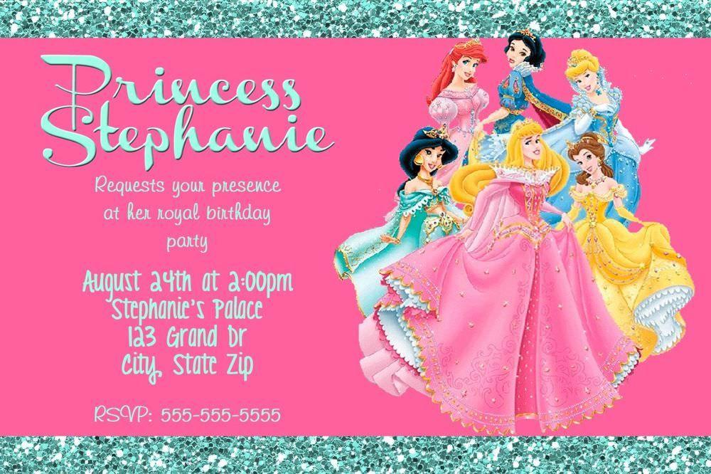 princess birthday party invitation s