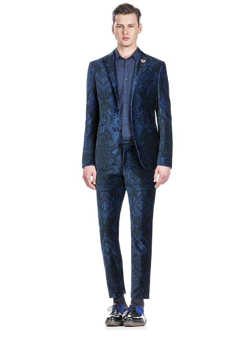 d149fdc2d0a93 Velvet suit with Paisley motifs (Etro AW15-16) | Your Pinterest ...