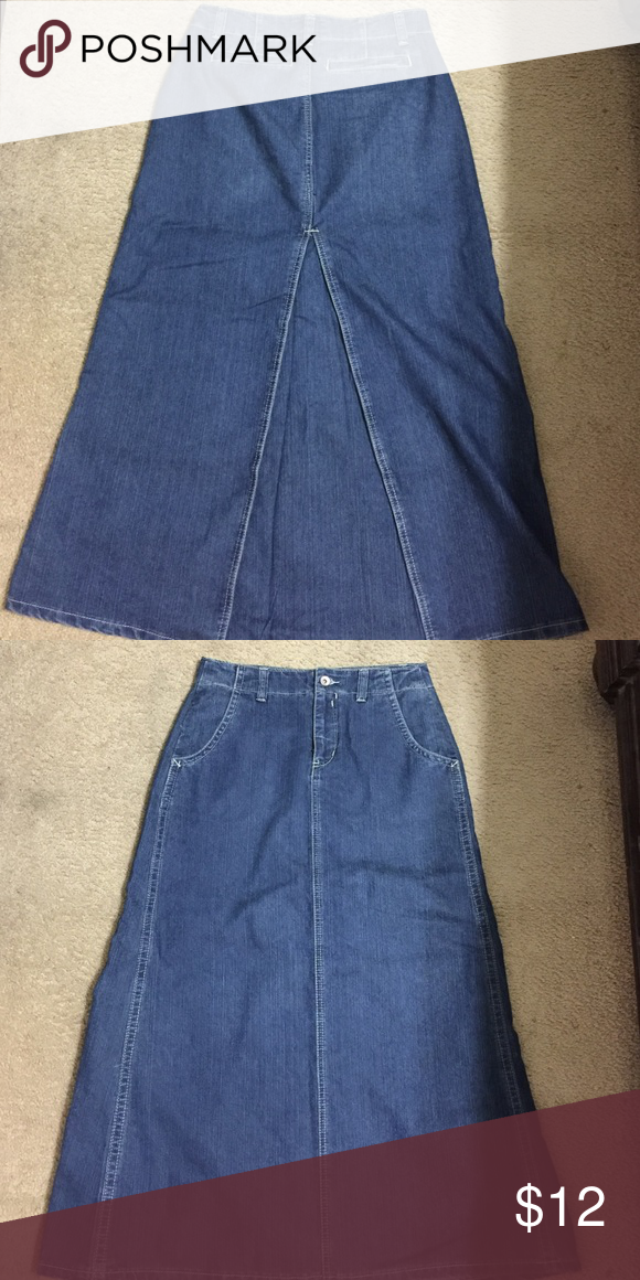 Jean Skirt Cato Very Nice Not Really A Split Just Has