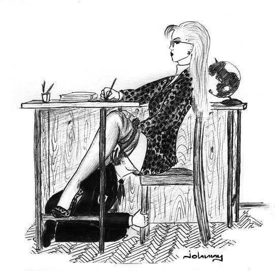 Femdom illustrations museum