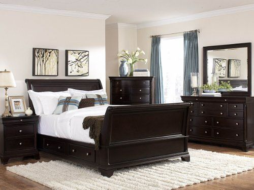 Inglewood 5 Pc Sleigh Eastern King Bedroom Set With Chest By Homelegance In Espresso Ht Platform Bedroom Sets Bedroom Furniture Sets Classic Bedroom Furniture