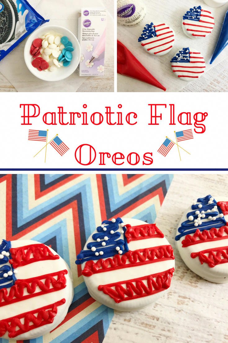 This is the cutest 4th of July dessert! These patriotic flag Oreos are easy to make and everyone loves them. is the cutest 4th of July dessert! These patriotic flag Oreos are easy to make and everyone loves them.
