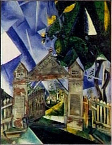 Les portes du cimetière, 1917, by Marc Chagall. Centre Pompidou