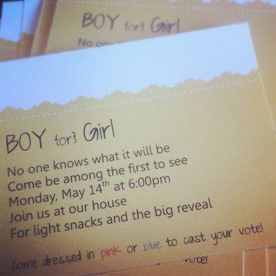 gender reveal invitations