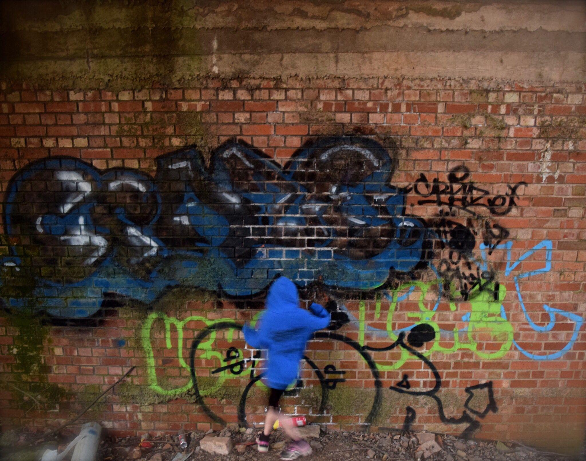 Graffiti artist but not really!