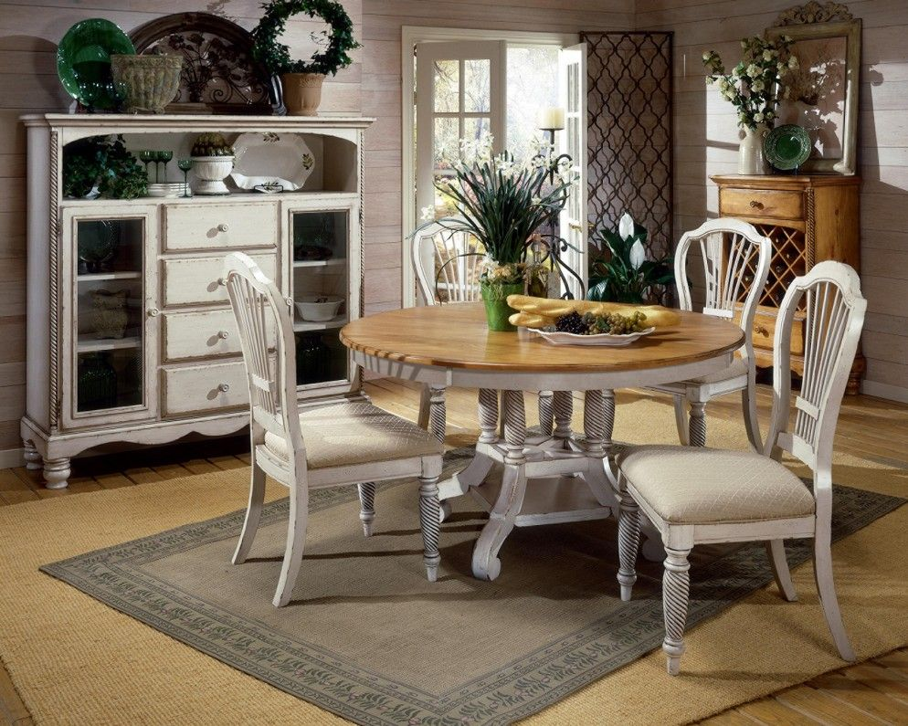 Decorate your dining room with country dining room chairs delectable country french dining room with rustic wood round dining table and chairs also classic
