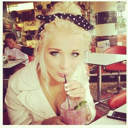 Girl Cute And Fashion Image On We Heart It Bandana HairstylesRetro HairstylesGirl HairstylesTwist Braid