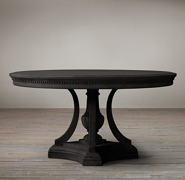 Floyd Round Dining Table Rh017 Black Round Dining Table Round Kitchen Table Round Pedestal Dining Table