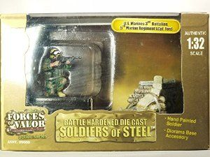 FORCES OF VALOR UNIMAX 1/32 Scale 3th Battalion 5th Marine Regiment 99009 LCpl. Lance Corporal Ford Minifigure Collectible BATTLE HARDENED DIE CAST SOLIDERS OF STEEL