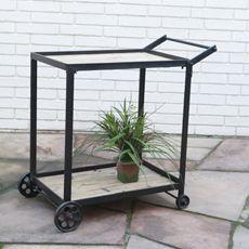 Metal Rolling Cart as bar
