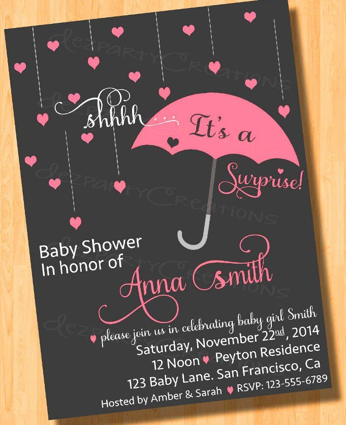 surprise baby shower invitation wording 4 | Baby shower | Pinterest ...