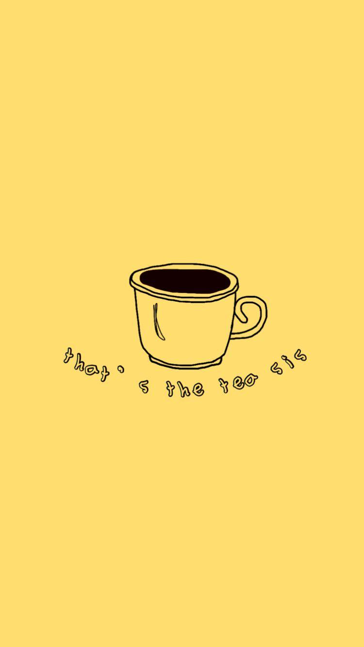 Yellow Aesthetic Tea With Images Yellow Aesthetic Pastel