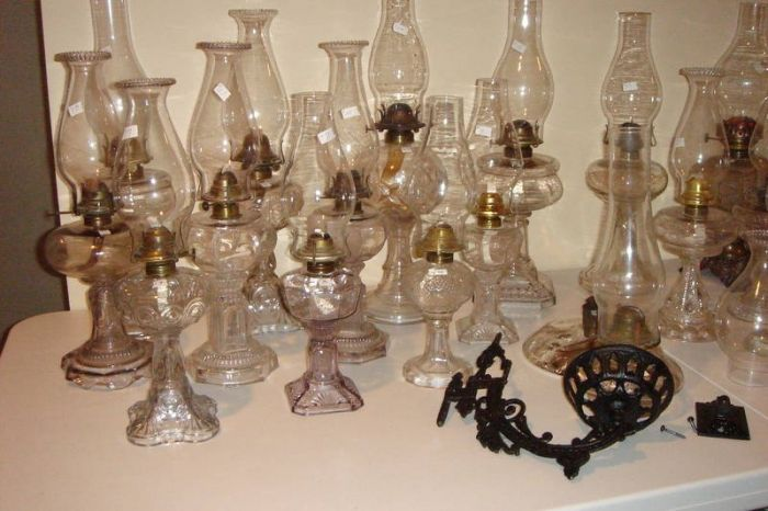 Antique Coal Oil Lamps For