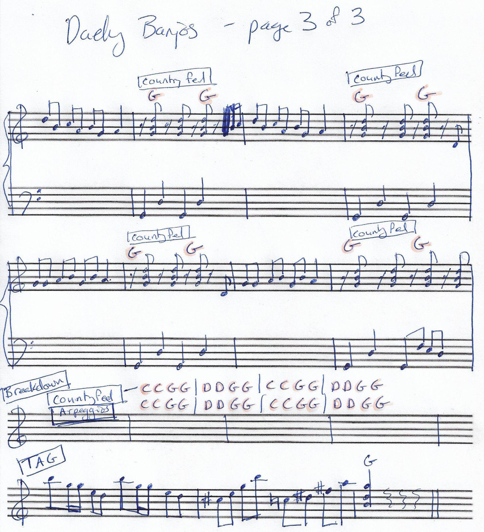 Dueling Banjos (Fake Sheet) Piano in G Major - Page 3 of 3