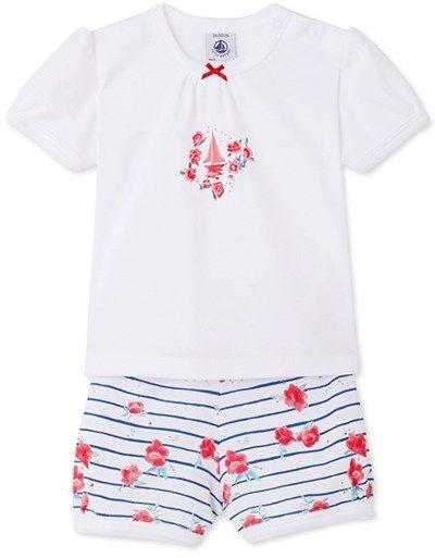 fa4f8d6ee9a1 Petit Bateau Baby girls print short pyjamas