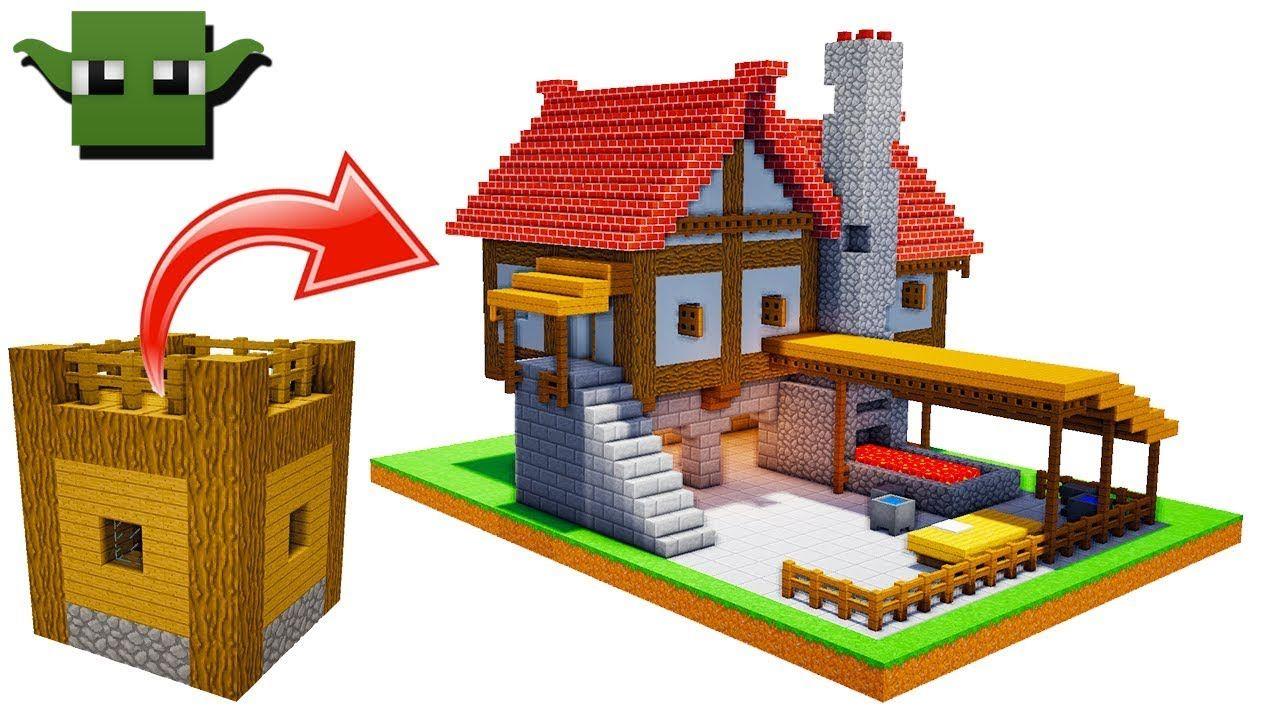Minecraft Medieval Blacksmith Tutorial (EASY 5X5 BUILDING SYSTEM