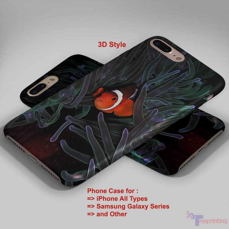 Clown Fish Finding Nemo - Personalized iPhone 7 Case, iPhone 6/6S Plus, 5 5S SE, 7S Plus, Samsung Galaxy S5 S6 S7 S8 Case, and Other