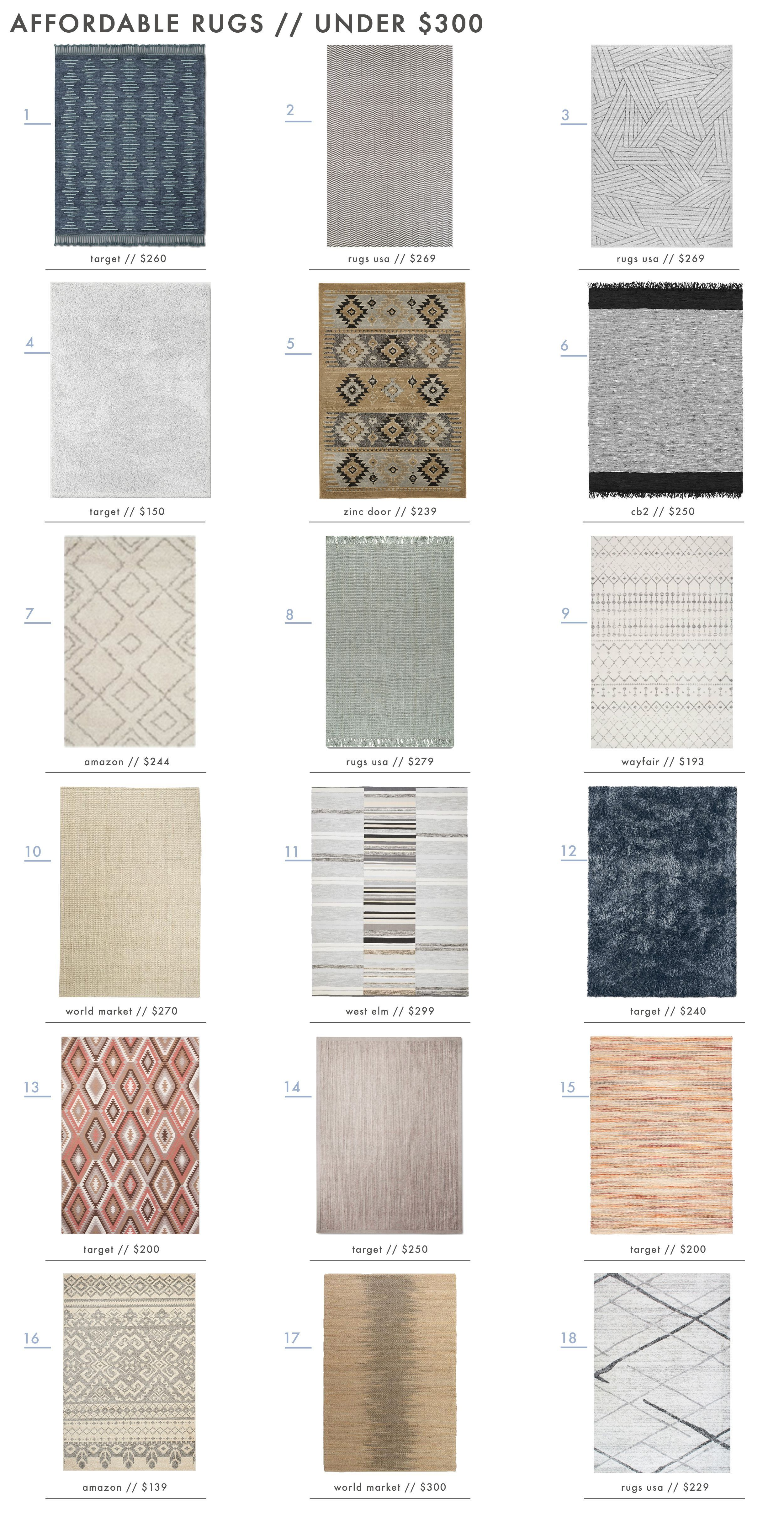 Emily Henderson Roundup Affordable Rugs Under 300 01 Homedecoraccessories Affordable Area Rugs Inexpensive Home Decor Affordable Home Decor