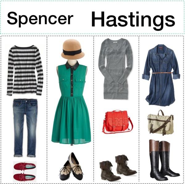 spencer hastings style | Spencer Hastings Style GuideLook 1-American EagleLook 2-ModclothLook 3 ...