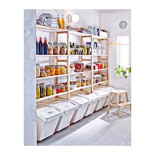 IVAR 1 secção/prateleiras, pinho | Speisekammer, Vorratsraum und ...