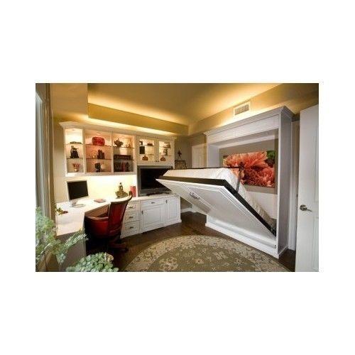 Full Size Hidden Murphy Bed Wall Storage Unit Studio Condo Apartments Guest  Room In Home U0026 Garden, Furniture, Beds U0026 Mattresses