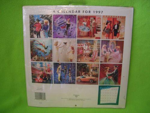1997 Vintage Barbie Wall Calendar New Sealed Hallmark Wall